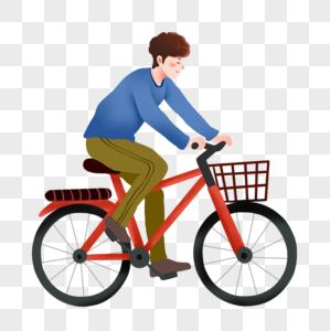 男孩骑自行车图片