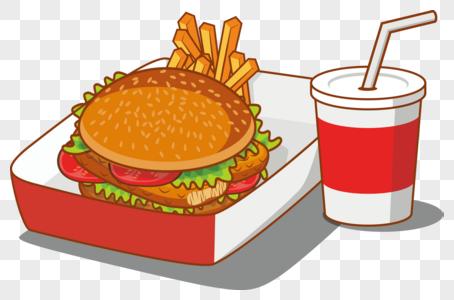 汉堡套餐图片