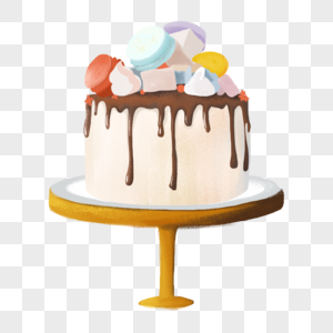 手绘婚礼蛋糕图片
