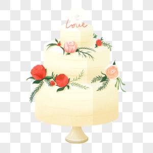 婚礼蛋糕元素图片