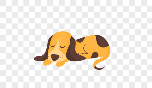 手绘小狗图片