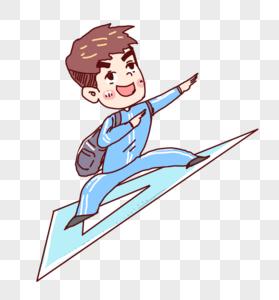 飞翔小男孩图片