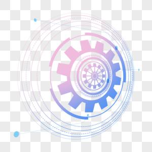 科技光圈蓝色炫光图片