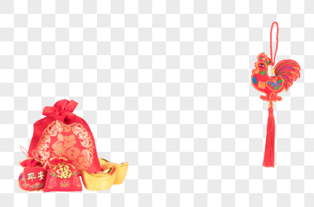 喜庆鸡年背景元素图片