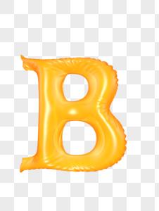 气球字母B图片