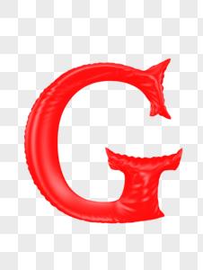 气球字母G图片