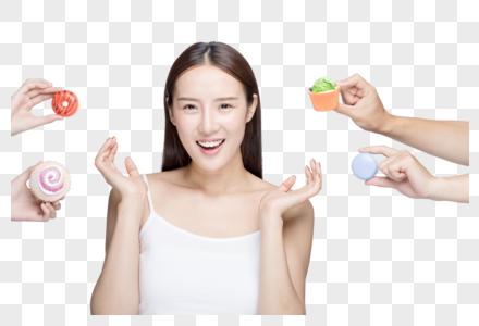 女性甜品诱惑减肥图片