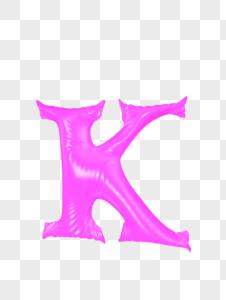 气球字母K图片