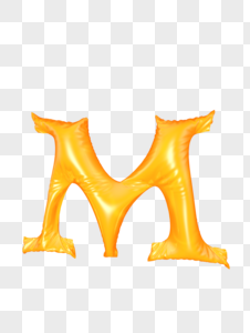 气球字母M图片