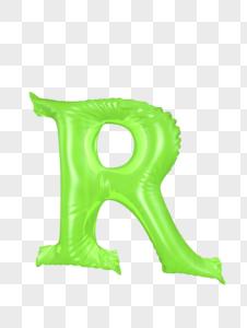 气球字母R图片