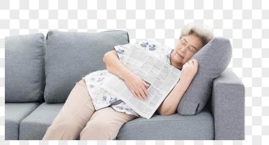 老年奶奶瞌睡图片