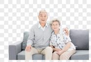 老年夫妇居家形象图片