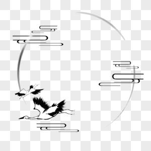 古风水墨圆圈图片