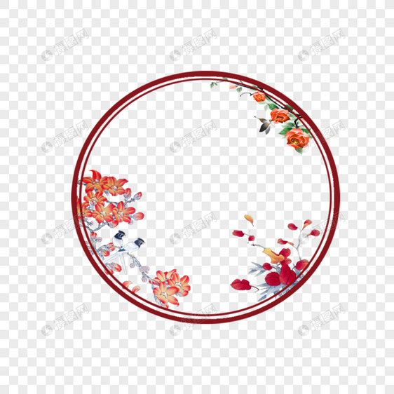 中国风古风圆元素素材psd格式_设计素材免费下载_vrf