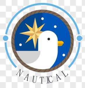 矢量航海徽章图片