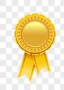 金色奖牌素材图片