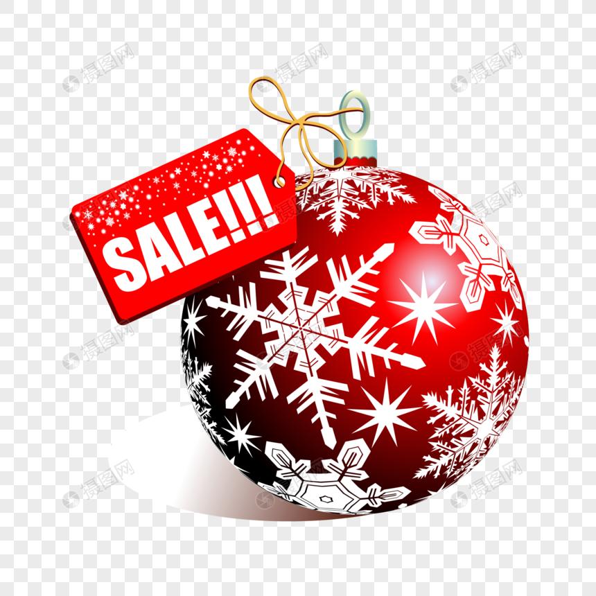 圣诞节球销售标签图片