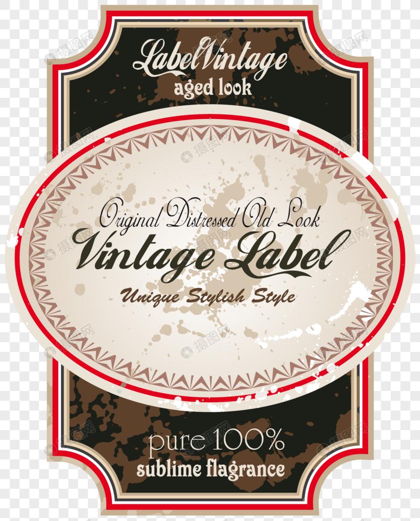 矢量欧式复古酒贴标签图片