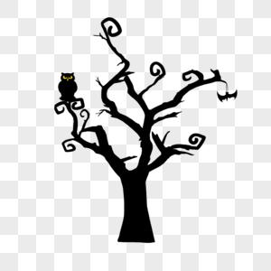 万圣节枯树素材图片