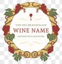 欧式葡萄酒矢量标签图片
