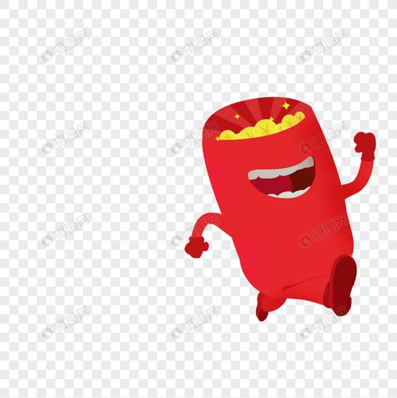 创意卡通红包元素素材png格式_设计素材免费下载_vrf