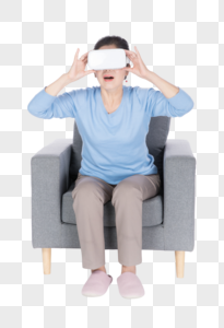 老年人头Vr眼镜体验图片
