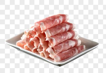 一大盘羊肉卷图片