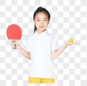 打乒乓球的小女孩图片