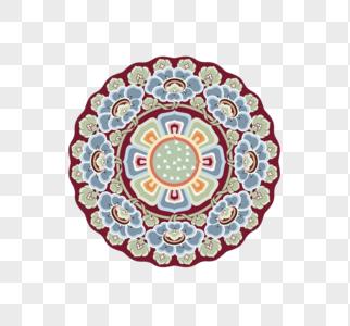 花朵图案圆盘图片