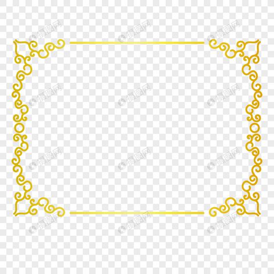 欧式金色边框
