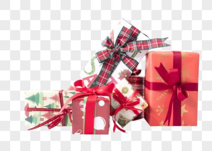 新年礼盒组合背景素材图片