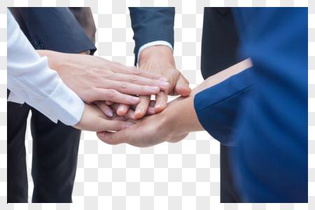 商务团队成员一起加油鼓图片