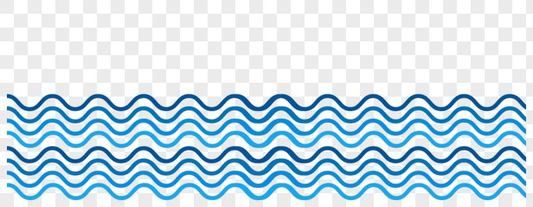 波浪线手绘图片