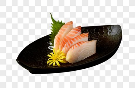 暗背景下的日式料理寿司刺身图片