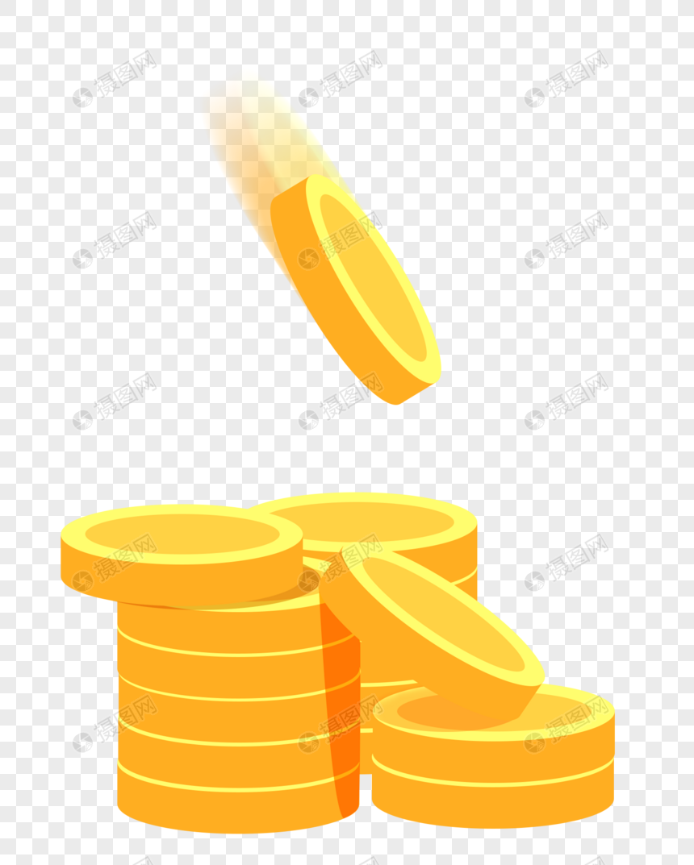 扁平化金币2.5d图片