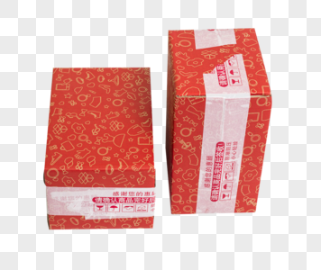 物流快递红色盒子排列图片
