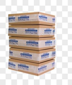 物流快递组合盒子叠放图片