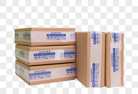 物流快递组合盒子排列图片