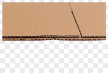 物流快递纸质盒子细节特写图片