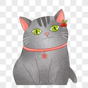 可爱的猫咪元素图片