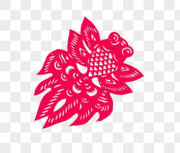 新春风筝造型中国剪纸摆拍图片