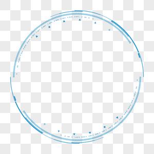 蓝色科技感边框图片