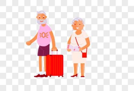 重阳节老人旅游形象图片