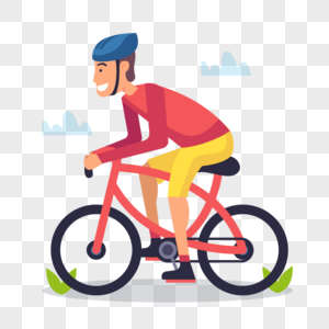 单车男孩元素图片