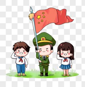 国庆手绘插画图片