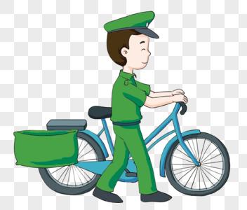 绿色邮局邮件邮递员图片