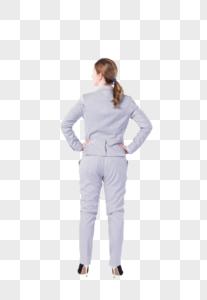 外国商务女性背影图片