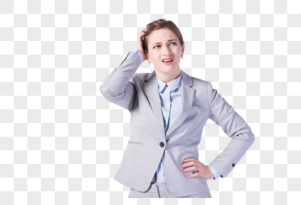 国外苦恼上班族女性图片