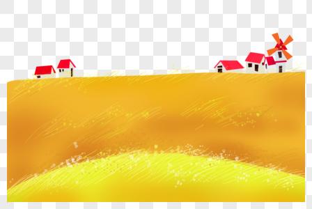 金黄的田野图片