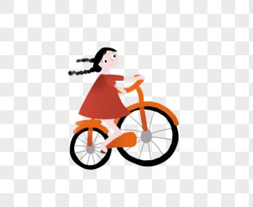 骑车女孩图片